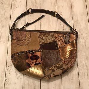 Coach Authentic Animal Print Patchwork Purse Bag